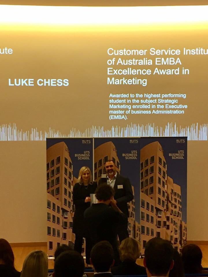 Luke at UTS ceremony