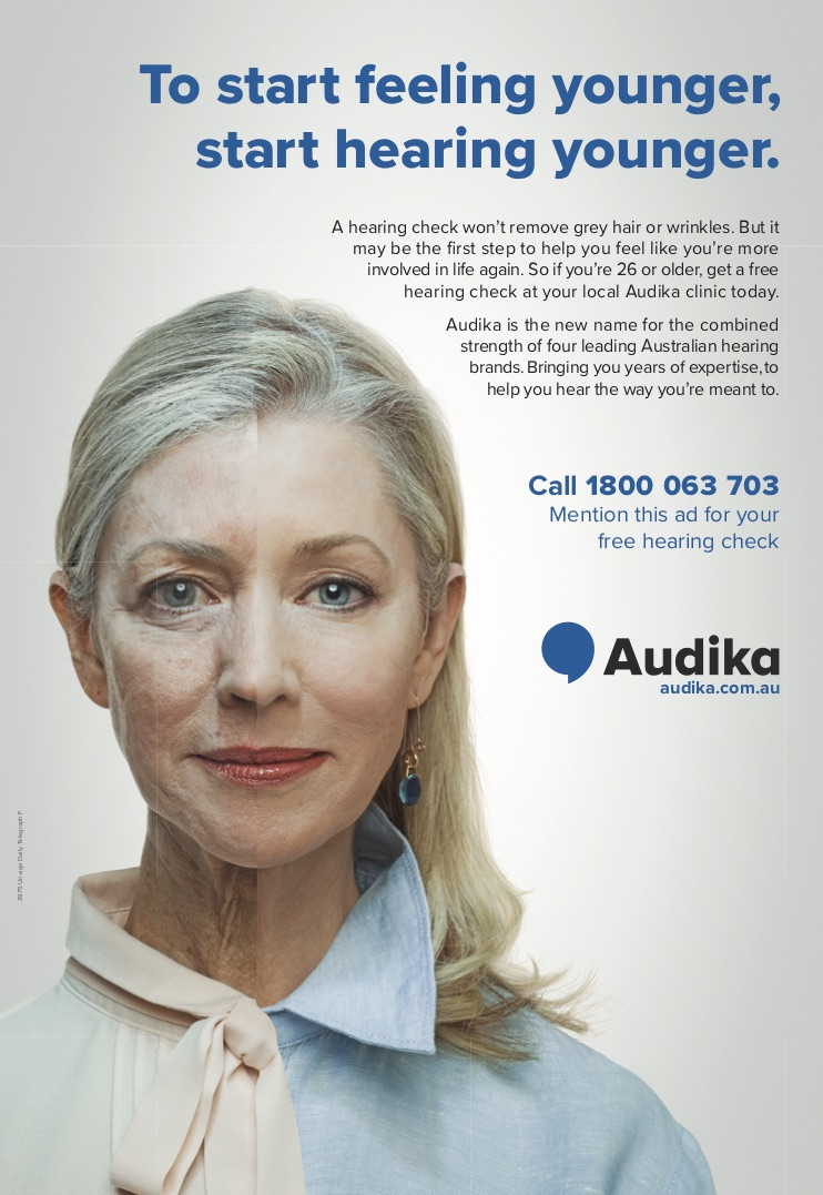 Audika FPC newspaper ad